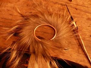 Wolf Fur cuff & Quill
